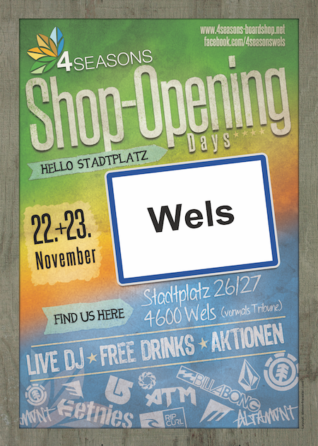4Seasons Shop Opening Wels